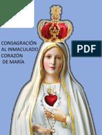 Consagracion al Inmaculado Corazon de Maria.