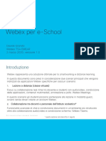 Webex-indicazioni utilizzo