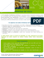 CDI - Análise preliminar de risco