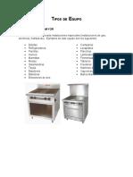 manual de equipamiento de cocinas, Lic. en Gastronomía