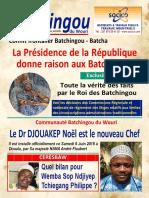 Batchingou. Le Dr DJOUAKEP Noël est le nouveau Chef Il est installé officiellement ce Samedi 6 Juin 2015 à Douala, par Sa majesté NANA André Flaubert