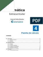 Unidad 4 - Planilla de cálculo
