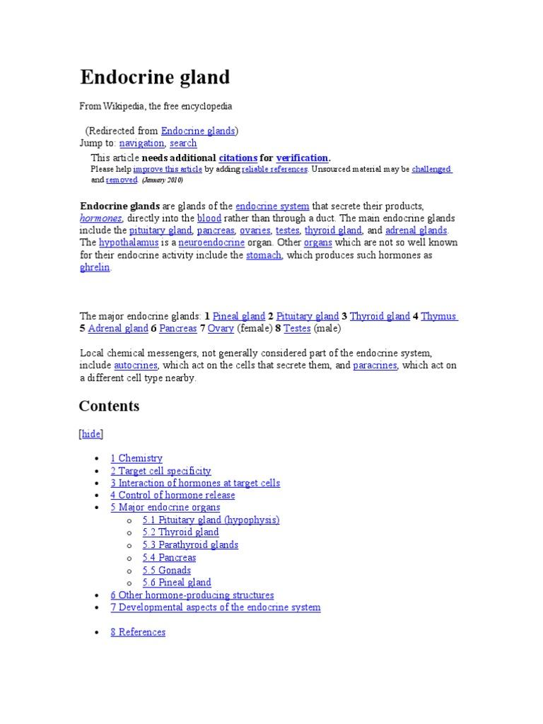 Endocrine Gland Hormone Anatomy
