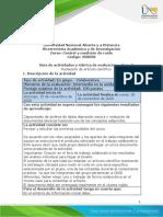 Guía de actividades y rúbrica de evaluación - Fase 5 - Redactar un artículo científico