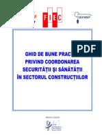 Ghid de bune practici privind coordonarea activitatii de SSM in Constructii