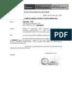oficio remite informe a logistica