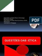 QUESTÕES COMENTADAS OAB