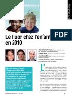 Le Fluor Chez L'Enfant En 2010