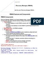Module 16b – Recovery Manager (RMAN)