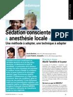 Sédation Consciente & Anesthésie Locale Chez L'Enfant