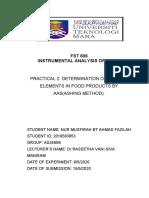 LR-Practical 2 (AAS Ashing)