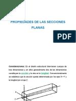 Presentación 4 PROPIEDADES DE LAS SECCIONES PLANAS