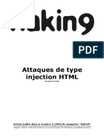 Attaques de type injection HTML