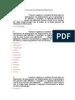EJERCICIO FACTORES DE APRENDIZAJE
