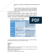 Modelo de Articulo Informativo Revista Vigiliana 2020