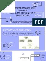 INTRODUCCIÓN A LAS ESTRUCTURAS BOOLEANAS
