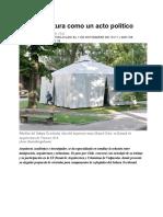 1. La arquitectura como un acto político