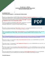 Taller No. 2  EJERCICIO DE CONTABILIZACIONES Y BALANCE