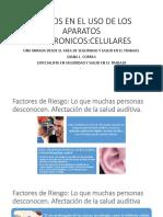 USO DE LOS APARATOS ELECTRONICOS-RIESGO Y PREVENCION