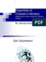 Essentials of Children's Ministry, for a convention