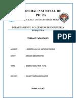 ANALISIS DE ALIMENTOS - CROMATOGRAFIA EN PAPEL -UNIVERSIDAD NACIONAL DE PIURA (1)