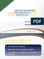 SINDROME DE DETERIORO COGNOSCITIVO - DEMENCIAS- UCSUR- 2019-1