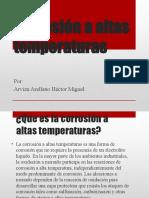 Corrosión a altas temperaturas