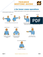 TG08-01 Hand Signals for Tower Crane