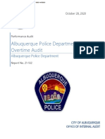 APD overtime audit report