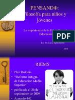 Pensando Filosofía para Niños-Lic. FIL. Lucia Agraz