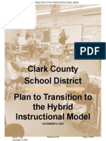 CCSD transition plan for hybrid learning