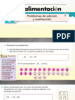 Retroalimentación PROBLEMAS DE ADICCIÓN Y SUSTRACCIÓN 23 DE OCTUBRE
