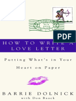 How To Write A Love Letter by Barrie Dolnick and Donald Baack - Excerpt