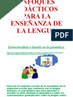 ENFOQUES DIDÁCTICOS PARA LA ENSEÑANZA DE LA LENGUA