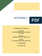 DERECHO PROCESAL MERCANTIL ACTIVIDAD 2