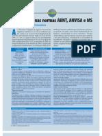 Normas ABNT ANVISA MS ácido peracético