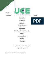 Preguntas Reflexivas de Etica, Francisco Javier 2018-3822
