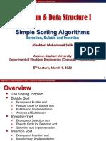 Algorithms & Data Structure I_ Lecture 5