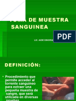 TOMA DE MUESTRA SANGUINEA