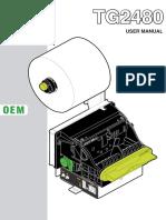 User manual TG2480_Rev100