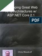 QConSF2018-ChrisWoodruff-DevelopingGreatWebAPIsArchitectureswASP.NETCore2.1