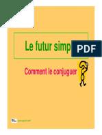 Le futur simple conjugaison