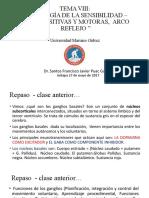 CLASE XII - ANATOMIA Y FISIOLOGÍA DEL SN - DR SANTOS PUAC - F. DE LA SENSIBILIDAD – VÍAS SENSITIVAS, MOTORAS Y REFLEJOS