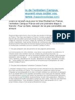 Campus France-8 erreurs à éviter