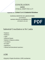 Conciliation underthe Industrial Disputes Act of Sri Lanka