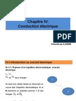 Chapitre IV Conduction électrique (1)