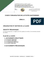 3-Organisation des activtés quotidiènne