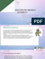 PREVENCIÒN DE RIESGO QUIMÌCO