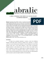 A CRÍTICA LITERÁRIA COMO CRÍTICA DA CULTURA EM JOSÉ GUILHERME MERQUIOR