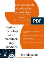 Procesos alternos de reorganización administrativa